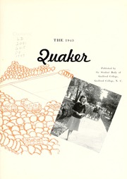 Page 7, 1943 Edition, Guilford College - Quaker Yearbook (Greensboro, NC) online yearbook collection