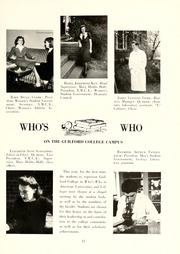 Page 15, 1944 Edition, Guilford College - Quaker Yearbook (Greensboro, NC) online yearbook collection