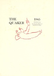 Page 5, 1945 Edition, Guilford College - Quaker Yearbook (Greensboro, NC) online yearbook collection