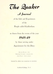 Page 5, 1949 Edition, Guilford College - Quaker Yearbook (Greensboro, NC) online yearbook collection
