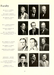 Page 15, 1952 Edition, Guilford College - Quaker Yearbook (Greensboro, NC) online yearbook collection