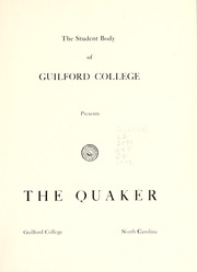 Page 9, 1952 Edition, Guilford College - Quaker Yearbook (Greensboro, NC) online yearbook collection