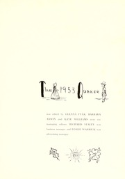 Page 7, 1953 Edition, Guilford College - Quaker Yearbook (Greensboro, NC) online yearbook collection