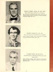 Page 17, 1956 Edition, Guilford College - Quaker Yearbook (Greensboro, NC) online yearbook collection