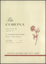 Page 6, 1958 Edition, St Stephens High School - Corona Yearbook (Hickory, NC) online yearbook collection