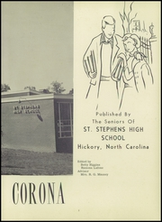 Page 7, 1959 Edition, St Stephens High School - Corona Yearbook (Hickory, NC) online yearbook collection