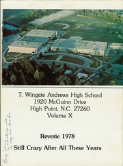 Page 5, 1978 Edition, Thomas Wingate Andrews High School - Reverie Yearbook (High Point, NC) online yearbook collection