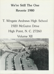 Page 5, 1980 Edition, Thomas Wingate Andrews High School - Reverie Yearbook (High Point, NC) online yearbook collection