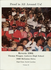 Page 5, 1984 Edition, Thomas Wingate Andrews High School - Reverie Yearbook (High Point, NC) online yearbook collection