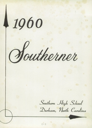 Page 5, 1960 Edition, Southern High School - Southerner Yearbook (Durham, NC) online yearbook collection