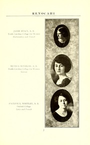 Page 11, 1924 Edition, Reidsville High School - Renocahi Yearbook (Reidsville, NC) online yearbook collection