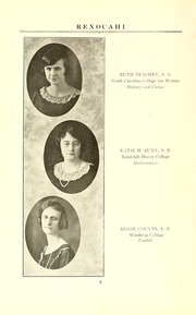 Page 12, 1924 Edition, Reidsville High School - Renocahi Yearbook (Reidsville, NC) online yearbook collection