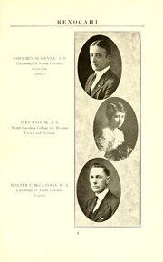 Page 13, 1924 Edition, Reidsville High School - Renocahi Yearbook (Reidsville, NC) online yearbook collection