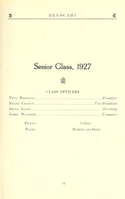 Page 13, 1927 Edition, Reidsville High School - Renocahi Yearbook (Reidsville, NC) online yearbook collection