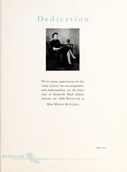 Page 9, 1940 Edition, Reidsville High School - Renocahi Yearbook (Reidsville, NC) online yearbook collection