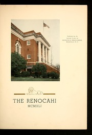 Page 7, 1941 Edition, Reidsville High School - Renocahi Yearbook (Reidsville, NC) online yearbook collection