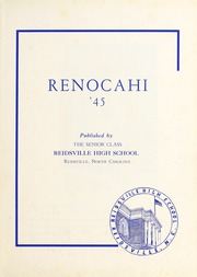 Page 5, 1945 Edition, Reidsville High School - Renocahi Yearbook (Reidsville, NC) online yearbook collection