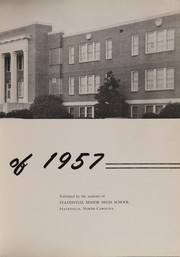 Page 7, 1957 Edition, Statesville High School - Trail Yearbook (Statesville, NC) online yearbook collection