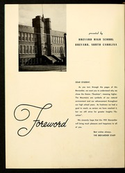 Page 6, 1951 Edition, Brevard High School - Brevardier Yearbook (Brevard, NC) online yearbook collection