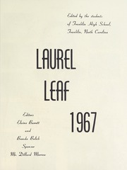 Page 5, 1967 Edition, Franklin High School - Laurel Leaf Yearbook (Franklin, NC) online yearbook collection
