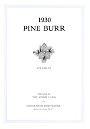 Page 7, 1930 Edition, Lincolnton High School - Pine Burr Yearbook (Lincolnton, NC) online yearbook collection