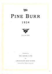 Page 5, 1934 Edition, Lincolnton High School - Pine Burr Yearbook (Lincolnton, NC) online yearbook collection