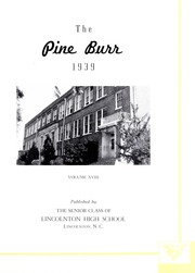 Page 5, 1939 Edition, Lincolnton High School - Pine Burr Yearbook (Lincolnton, NC) online yearbook collection