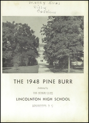 Page 5, 1948 Edition, Lincolnton High School - Pine Burr Yearbook (Lincolnton, NC) online yearbook collection