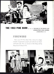 Page 6, 1953 Edition, Lincolnton High School - Pine Burr Yearbook (Lincolnton, NC) online yearbook collection