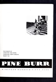 Page 7, 1955 Edition, Lincolnton High School - Pine Burr Yearbook (Lincolnton, NC) online yearbook collection