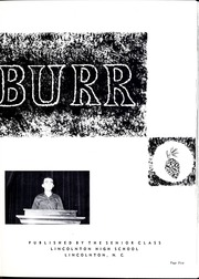 Page 9, 1959 Edition, Lincolnton High School - Pine Burr Yearbook (Lincolnton, NC) online yearbook collection