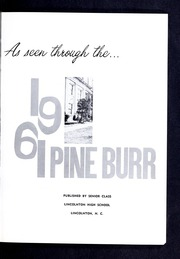 Page 7, 1961 Edition, Lincolnton High School - Pine Burr Yearbook (Lincolnton, NC) online yearbook collection