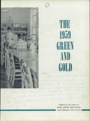 Page 7, 1959 Edition, Wilkes Central High School - Green and Gold Yearbook (North Wilkesboro, NC) online yearbook collection