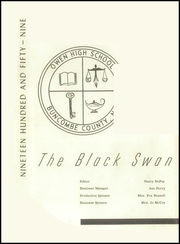 Page 6, 1959 Edition, Charles D Owen High School - Black Swan Yearbook (Black Mountain, NC) online yearbook collection