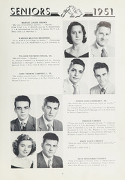 Page 13, 1951 Edition, Washington High School - Packromak Yearbook (Washington, NC) online yearbook collection