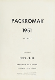 Page 5, 1951 Edition, Washington High School - Packromak Yearbook (Washington, NC) online yearbook collection