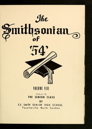 Page 5, 1954 Edition, E E Smith High School - Smithsonian Yearbook (Fayetteville, NC) online yearbook collection