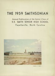 Page 5, 1959 Edition, E E Smith High School - Smithsonian Yearbook (Fayetteville, NC) online yearbook collection