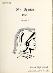 Page 5, 1959 Edition, Central Davidson High School - Spartan Yearbook (Lexington, NC) online yearbook collection