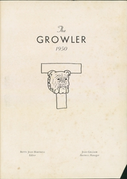 Page 5, 1950 Edition, Thomasville High School - Growler Yearbook (Thomasville, NC) online yearbook collection