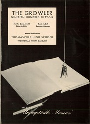 Page 5, 1956 Edition, Thomasville High School - Growler Yearbook (Thomasville, NC) online yearbook collection