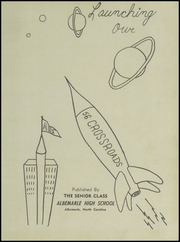 Page 5, 1956 Edition, Albemarle High School - Crossroads Yearbook (Albemarle, NC) online yearbook collection