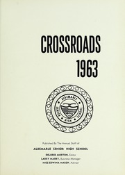 Page 5, 1963 Edition, Albemarle High School - Crossroads Yearbook (Albemarle, NC) online yearbook collection
