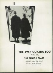 Page 6, 1957 Edition, Foard High School - Quatra Log Yearbook (Newton, NC) online yearbook collection