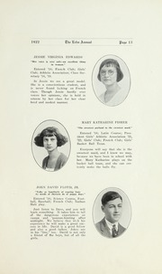 Page 15, 1922 Edition, Salisbury High School - Echo Yearbook (Salisbury, NC) online yearbook collection