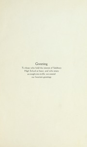 Page 5, 1922 Edition, Salisbury High School - Echo Yearbook (Salisbury, NC) online yearbook collection