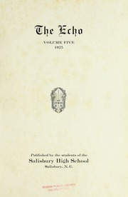 Page 5, 1925 Edition, Salisbury High School - Echo Yearbook (Salisbury, NC) online yearbook collection
