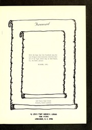 Page 5, 1961 Edition, Zeb Vance High School - Echo Yearbook (Kittrell, NC) online yearbook collection