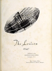 Page 5, 1940 Edition, Lexington High School - Lexicon Yearbook (Lexington, NC) online yearbook collection