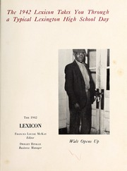 Page 5, 1942 Edition, Lexington High School - Lexicon Yearbook (Lexington, NC) online yearbook collection